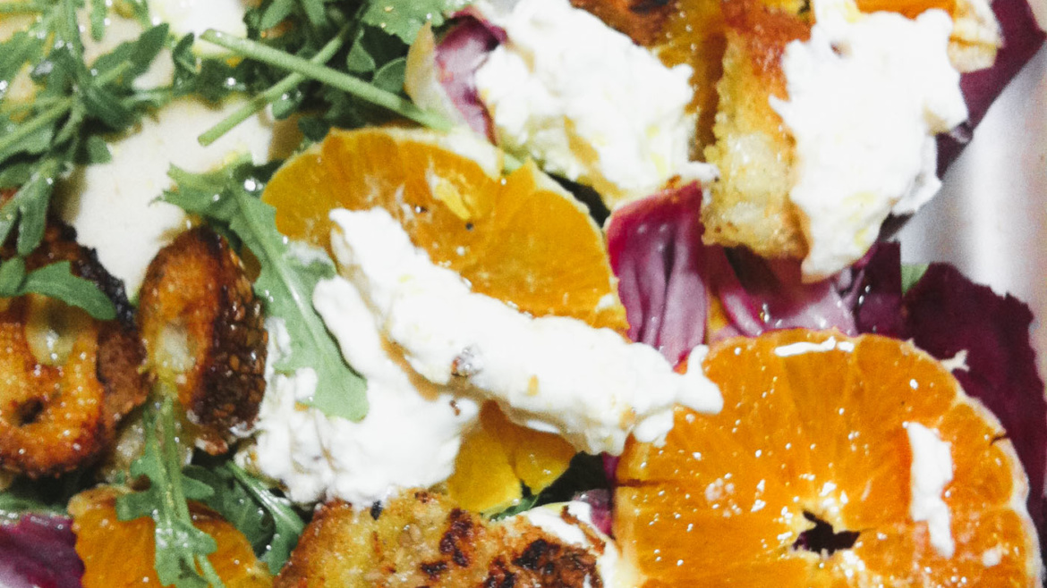 Agrumes and Goat Cheese Salad