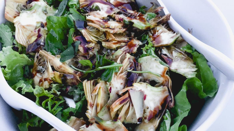 Baby Purple Artichokes Salad
