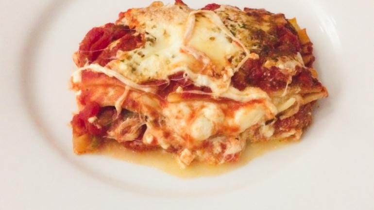 Holy Basil Cheesy Vegetarian Lasagna