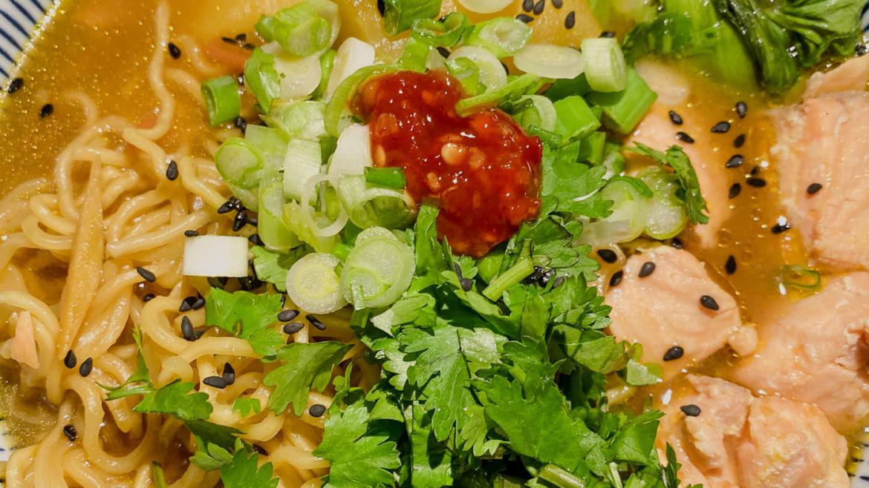 Salmon and Potatoes Sesame Miso Ramen