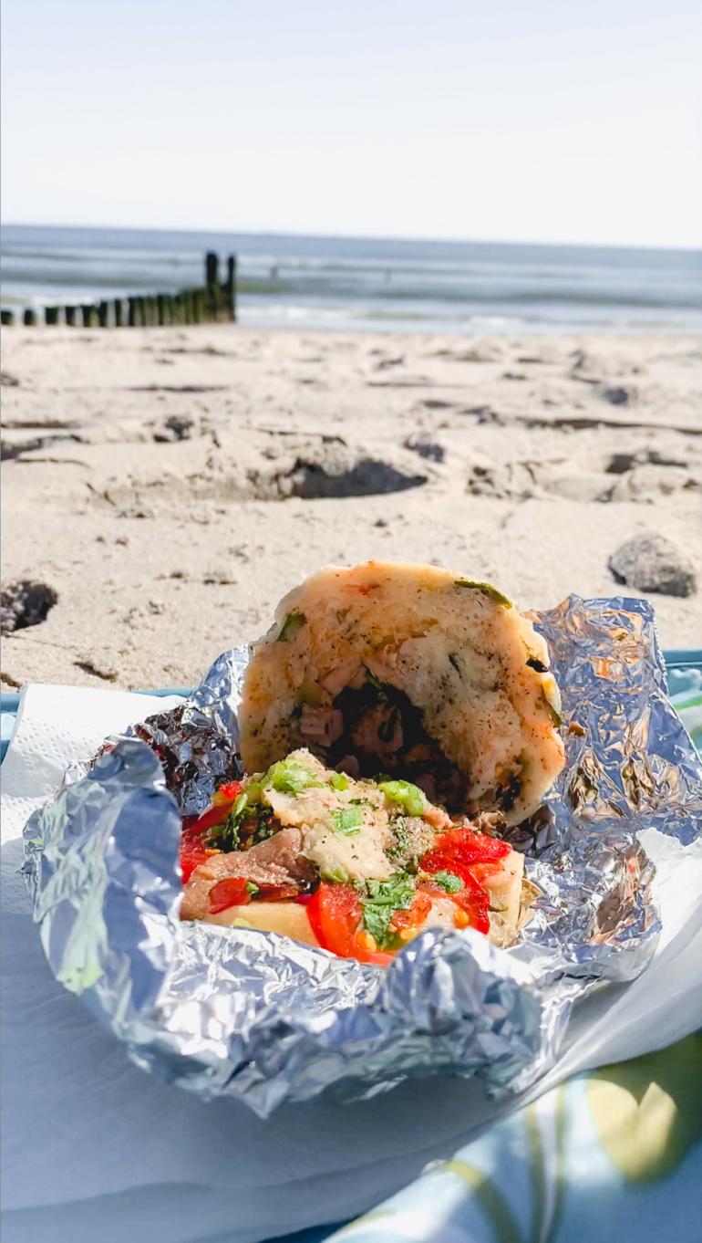 Pan Bagnat on the beach picnic